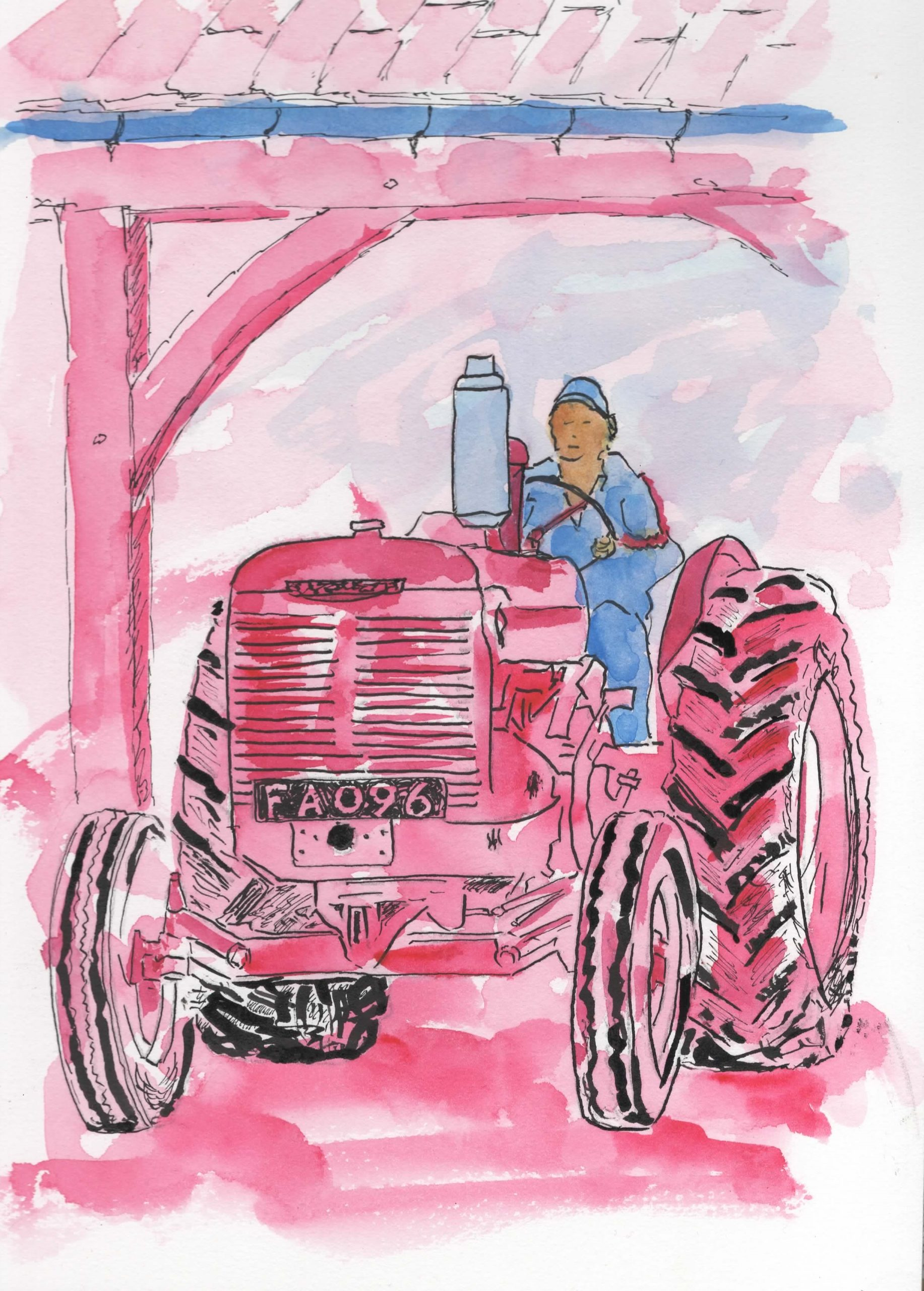 Pen and wash tractor