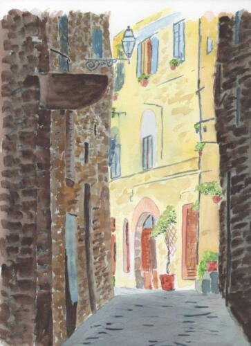 Street in Umbrian Town.